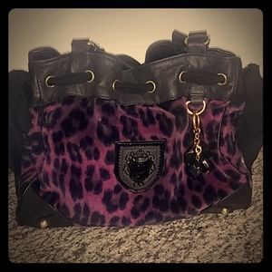 💋Juicy couture Vintage Purple Leopard Purse